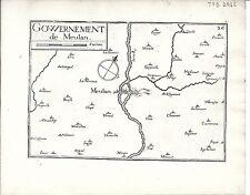 Antico mappe, gouvernement DE meulan