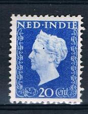 """xx NED.-INDIE NVPH nr. 338 P, plaatfout """"blauwe punt op hoofd"""". C.w. € 25,00"""