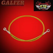 """Brake Line 36"""" long Gold  for Extended Swingarms or Swingarm Extensions"""
