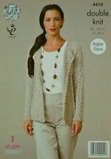KNITTING PATTERN Ladies Long Sleeve Edge2Edge Cardigan Galaxy DK King Cole 4410