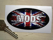 MODS UK GRAFFITI STYLE OVAL 100mm Retro classic scooter or helmet STICKER