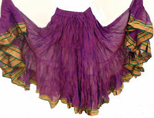 25 YARD GYPSY BELLYDANCE SKIRT, tribal fusion dance skirt, hippy boho festival I