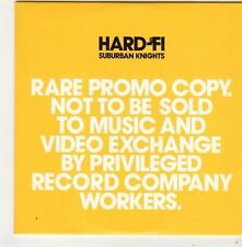 (FG28) Hard-Fi, Suburban Knights - 2007 DJ CD