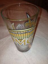 VINTAGE NEW ORLEANS SAINTS HOME MERCEDES BENZ  SUPERDOME COORS LIGHT BEER GLASS