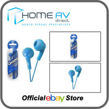 JVC ha-f160 Gumy IN-EAR CUFFIE COMPATIBILE IPOD/IPHONE IN Blu Menta Piperita
