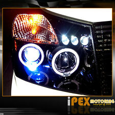 "For 2004-2014 Nissan Titan ""Shiny Black"" Dual Halo Projector LED Headlights"