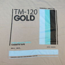 NEW TEAMANILA CIRCA 1986 TM - 120 GOLD CASSETTE TAPE TEE T SHIRT Sz XL