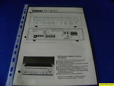 Yamaha R-300 Original  Reference Guide New ITALIANO  Language Italian