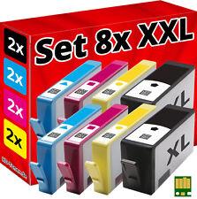 8x CHIP PATRONEN für HP-364-XL DESKJET 3070A 3520 3522 3524 OFFICEJET 4620 4622