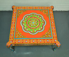 Hand Painted Coffee Table Sofa Table Statement Multi Color Indian Furniture Boho