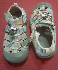 """GIRLS """"KEEN"""" MULTI COLORS RUBBER WATER SHOES/SANDALS-SIZE-12"""