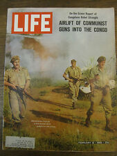 LIFE Feb 12 1965 S O'Casey, Sukarno, Congo civil war, Muhammad Ali, AF cheating