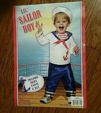 New Lil' Sailor Boy Popeye Costume Stage Cosplay Pageant
