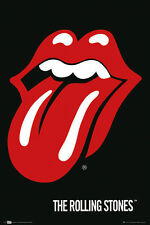 Rolling Stones LAMINATED POSTER Red Tongue Mick Jagger Band Symbol NEW Licensed