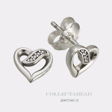 Authentic Pandora Ribbons of Love Clear CZ Earrings 290736CZ