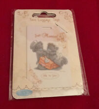 ME TO YOU BEAR TATTY TEDDY WEDDING HONEYMOON JUST MARRIED LUGGAGE TAGS