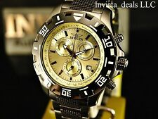 Invicta Men Python ISA Chronograph Knurled Links Champagne Dial Gunmetal IP Watc