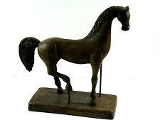 """Austin Productions 50s Ancient Horse Statue Sculpture Durastone 12.5""""T 13L 4.5W"""