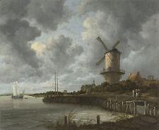The Windmill at Wijk bij Duurstede by Jacob Isaacksz. van Ruisdael (1668)- 00046