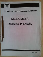 TOHATSU M2.5A M3.5A SERVICE MANUAL OUTBOARDS AUSSENBORDER