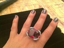 *HUGE* Oversized Ruby Statement Cocktail Ring - Size 7