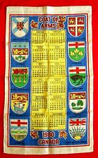 1980 Towel with Canadian Provincial Coat of Arms and Calendar golu