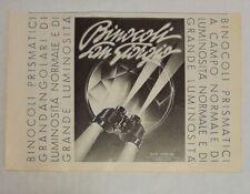 Pubblicità epoca 1938 BINOCOLI SAN GIORGIO GENOVA advertising publicitè reklame