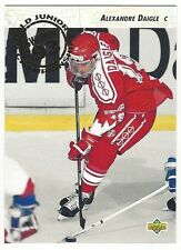 1992-93 UPPER DECK HOCKEY #587 ALEXANDRE DAIGLE ROOKIE - EXCELLENT-