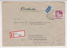 Bizone / Bauten, Mi. 93wg, Not-R-Kelkheim/Ts., 21.3.49, AKS Frankfurt