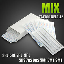 Disposable 50 Assorted RL RS M1 Sterile Tattoo Tips Needle Gun Machine Supplies