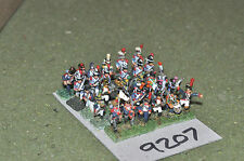 15mm napoleonic french infantry 30 figures (9207) metal painted