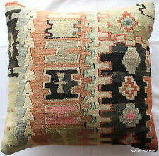 (50*50cm, 20inch) Turkish handwoven kilim cushion cover pastel slitweave