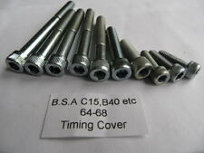 BSA C15/B40 etc up to 64 to 68 AllenTiming Cover Screw Set Bright Zinc Plated