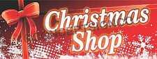4'x10' CHRISTMAS SHOP BANNER Signs Merry Holidays Seasonal Sales Santa Gifts XL