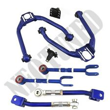 BLUE FOR 350Z Z33 G35 FRONT UPPER+REAR CAMBER+TOE ADJUSTABLE CONTROL ALIGNMENT