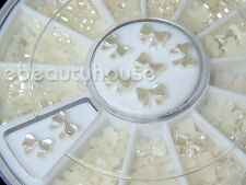 5 MM Nail Art Pearl Natural Gems Butterfly + Wheel #066