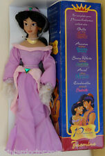 "Disney Alladin Princess Collection Jasmine Bisque Porcelain Doll 16"" tall NIB"