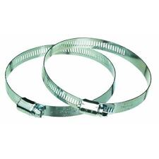 "6"" Metal Hose Clamp For Metal Heat Pipe Tube Ducting 2 Pk 2MC6E"