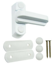 10 White Sash Blocker Jammer UPVC Door and Window Restrictor Surface Lock