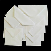 Premium White Envelopes 100gsm - for Greeting Cards Party Invitations & Crafts
