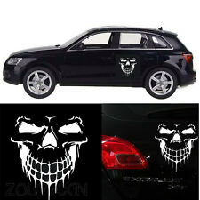 White Skull Hood Decal Vinyl Large Graphic Sticker Car Truck Semi Boat Tailgate
