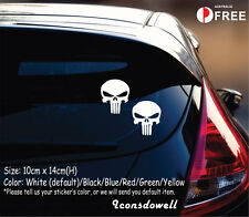 Punisher Skull Car Sticker Van Truck Window Laptop Stickers Decals Best Gifts-