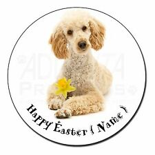 Poodle Personalised 'Happy Easter' Fridge Magnet Stocking Filler Ch, AD-CP7DA2FM