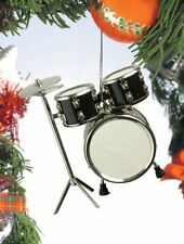 "Realistic Black Drum Set Christmas Ornament - 3"" Tall by Broadway Gifts"
