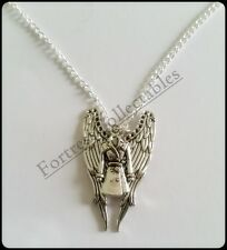 Supernatural Castiel Angel Coat/ Winged Necklace ARCHANGEL BRILLIANT GIFT!
