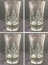 Laser Engraved Masonic Shot Glass (Sold in groups of 4)
