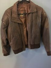 VINTAGE WILSONS ADVENTURE BOUND LEATHER BOMBER FLIGHT JACKET  BROWN SIZE S