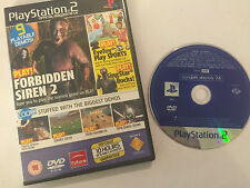 PLAYSTATION 2 MAGAZINE GAME DEMO DISC #74 PS2 FORBIDDEN SIREN 2 EARACHE EXTREME