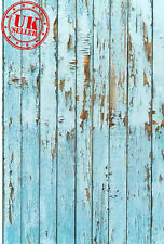 BLUE WOOD FLOOR BACKDROP WALLPAPER BACKGROUND VINYL PHOTO PROP 5X7FT 150x220CM