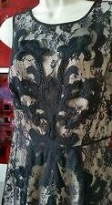 TARGET black Lace/nude Lining summer Party Club  dress size 8 Bnwt RRP $169.95